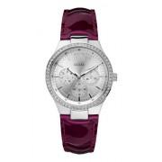 Guess - W11586L2 - Montre Femme - Quartz - Analogique - Bracelet cuir rouge