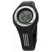 Adidas Kids - ADM4013 - Montre Junior - Quartz Digitale - Multifonctions - Bracelet Plastique noir Bandes Blanches