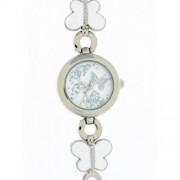 DDP - 4018303 - Montre Fille - Quartz Analogique - Bracelet en Métal Blanc