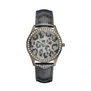 Guess - W10239L1 - Time to give - Montre Femme - Quartz Analogique - Cadran Gris - Bracelet Cuir Gris