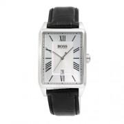 Hugo Boss - 1512438 - Boss Black - Montre Homme - Quartz Analogique - Cadran Argent - Bracelet Cuir Noir