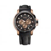 Hugo Boss - 1512315 - Montre Homme - Quartz Analogique - Chronographe - Bracelet en Cuir - Noir