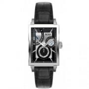 Hugo Boss - 1512592 - Montre Homme - Automatique Analogique - Cadran Noir - Bracelet Cuir Noir