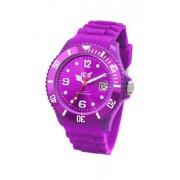 Ice Watch - SI.PE.U.S.09 - Montre Mixte - Quartz Analogique - Cadran Violet - Bracelet Silicone Violet - Moyen Modèle