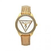 Guess - W70015L1 - Montre Femme - Cadran blanc - Bracelet en cuir doré