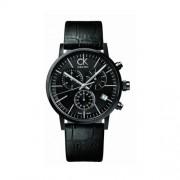 Calvin Klein - K7627401 - Montre Homme - Quartz - Chronographe - Bracelet cuir noir