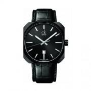 Calvin Klein - K1R21430 - Montre Homme - Quartz - Analogique - Bracelet cuir noir