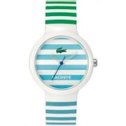 LACOSTE - 2010565 - Analogique - Montre Homme - Bracelet en silicone blanc, bleu et verte