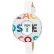 Lacoste - 2000542 - Montre Femme - Quartz Analogique - Bracelet en Cuir Blanc