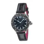 Accessorize - S1026 - Montre Femme - Quartz - Analogique - Bracelet Cuir Noir